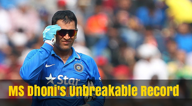 MS Dhoni Broke A World Record Like A Boss Yesterday And Nobody Is Even Talking About It