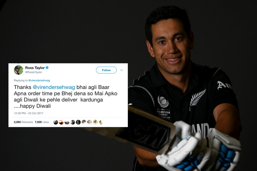 Ross Taylor Replied To Sehwag In Hindi And Sehwag's Reply Is Too Hilarious To Handle