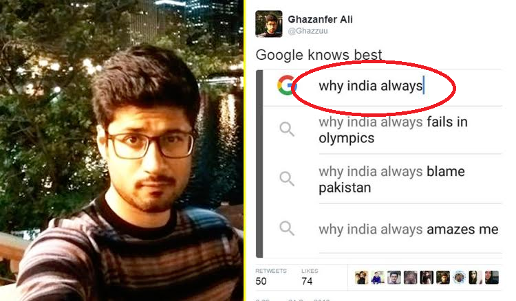 This Pakistani Guy 'Tried' Trolling India Using Google Suggestion. But, We Trolled Him So Bad He Might Delete His Account